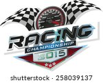 racing championship | Shutterstock .eps vector #258039137