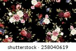 seamless floral pattern with... | Shutterstock . vector #258040619