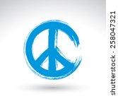 hand drawn simple vector peace... | Shutterstock .eps vector #258047321