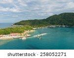Beach At A Tropical Resort ...