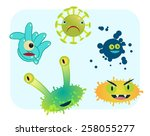 group of various type of... | Shutterstock .eps vector #258055277