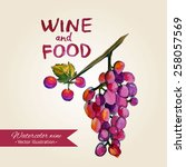 wine and food background.... | Shutterstock .eps vector #258057569