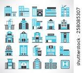 hospital icon set | Shutterstock .eps vector #258085307