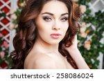 close up portrait of beautiful... | Shutterstock . vector #258086024