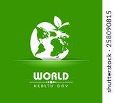 creative world health day...   Shutterstock .eps vector #258090815