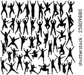 set of silhouettes of people... | Shutterstock . vector #25809880