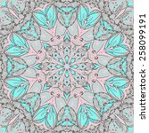 traditional ornamental paisley... | Shutterstock .eps vector #258099191