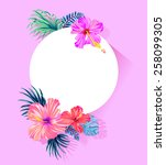 vector design with place for...   Shutterstock .eps vector #258099305