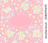 floral pink background with...   Shutterstock .eps vector #258099695