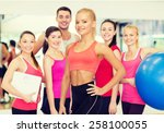 fitness  sport and diet concept ... | Shutterstock . vector #258100055