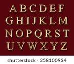 golden alphabet | Shutterstock . vector #258100934