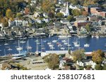 Aerial View Of Bar Harbor In...