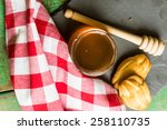 cup of tea with cookies on the... | Shutterstock . vector #258110735