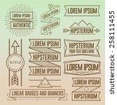 linear hipster badges symbols...   Shutterstock .eps vector #258111455