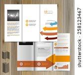 white brochure template design... | Shutterstock .eps vector #258123467