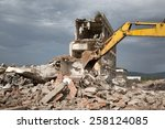 Bulldozer Removes The Debris...