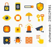 security color icons isolated... | Shutterstock .eps vector #258129581