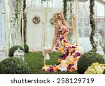 Fashion Lady In Spring Scenery...