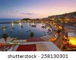 evening in mikrolimano marina... | Shutterstock . vector #258130301