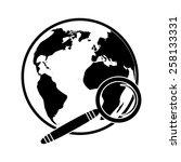 globe search icon