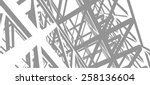 structure building construction.... | Shutterstock .eps vector #258136604