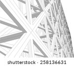 structure building construction.... | Shutterstock .eps vector #258136631