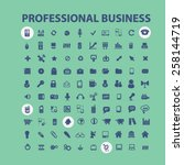 business  management ... | Shutterstock .eps vector #258144719