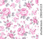 seamless floral pattern with... | Shutterstock .eps vector #258145115