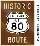 us historic route highway 80. | Shutterstock . vector #258145571