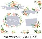 vintage floral set | Shutterstock .eps vector #258147551
