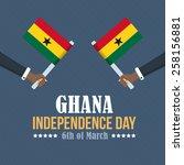 republic of ghana independence...   Shutterstock .eps vector #258156881