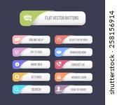 multicolor vector flat web...