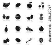 fruit icons  illustration | Shutterstock .eps vector #258157067