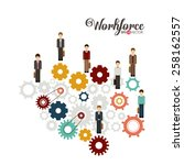 business and workforce over... | Shutterstock .eps vector #258162557