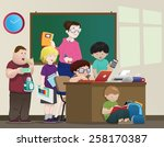 classroom | Shutterstock . vector #258170387
