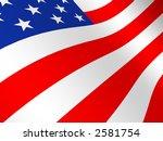 flag the usa | Shutterstock . vector #2581754