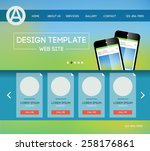 vector design website theme...