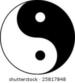 yin yang vector illustration   Shutterstock .eps vector #25817848