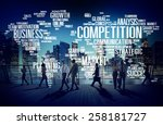 competition market global... | Shutterstock . vector #258181727