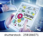 strategy solution tactics... | Shutterstock . vector #258186071