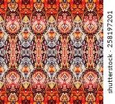 vintage ornate texture | Shutterstock .eps vector #258197201