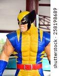 Small photo of AYUTTAYA,THAILAND - MARCH 04, 2015 : Wolverine model at Thung Bua Chom floating market