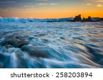 rocks and waves in the pacific... | Shutterstock . vector #258203894