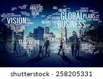 global business world... | Shutterstock . vector #258205331