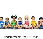 children kids happiness... | Shutterstock . vector #258210734