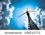 the wind turbine generator the... | Shutterstock . vector #258212771