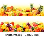 splendid vegetable and fruit... | Shutterstock . vector #25822408