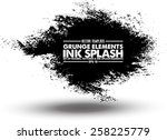 ink blot collection   design... | Shutterstock .eps vector #258225779