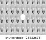 collage of light bulbs   Shutterstock . vector #25822615