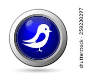 bird icon. internet button on... | Shutterstock . vector #258230297